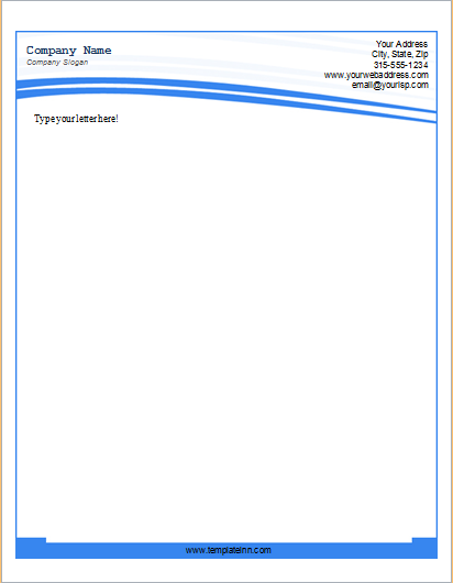 Letterhead Sample for MS Word