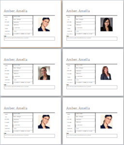 Employee Profile Template