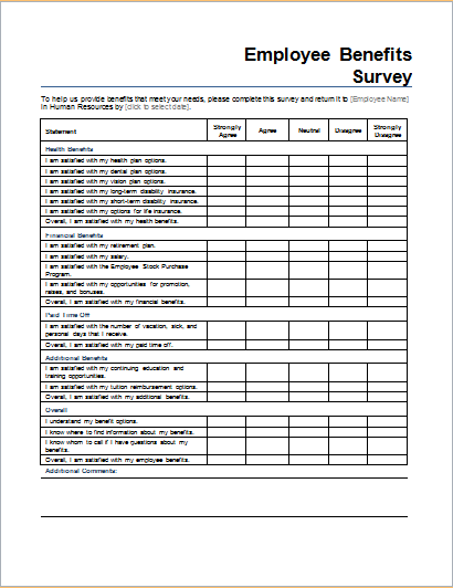 8 survey form templates for all businesses
