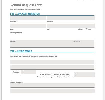 Fund Reimbursement Form  Microsoft Word  Excel Templates