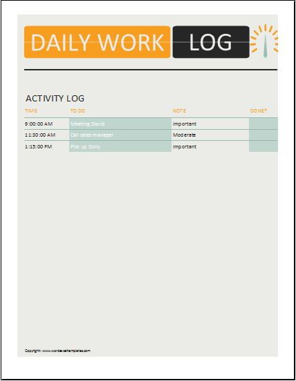 Daily-work-log-3 Responsible For Payment Letter Template on payment receipt form, payment statement letter, payment plan letter, payment request email sample, payment note sample, payment received letter, payment plan form, land for late payments template, overdue notice template, payment history, payment coupon templates microsoft office, payment request letter, payment confirmation email sample, payment thank you letter, payment remittance letter, payment acknowledgement letter, payment received receipt, payment reminder letter,
