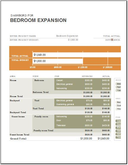 Home Remodel Expense Calculator