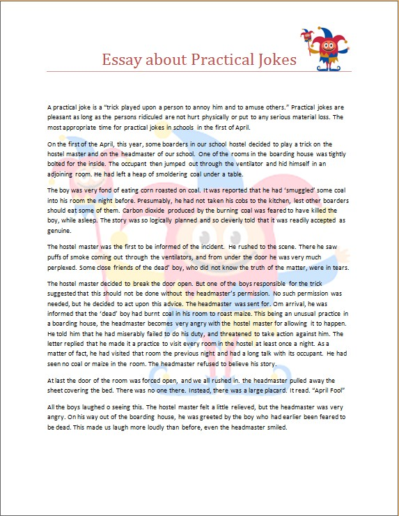 Essay about Practical Jokes