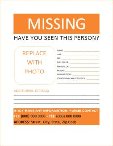 Missing Person Poster 2