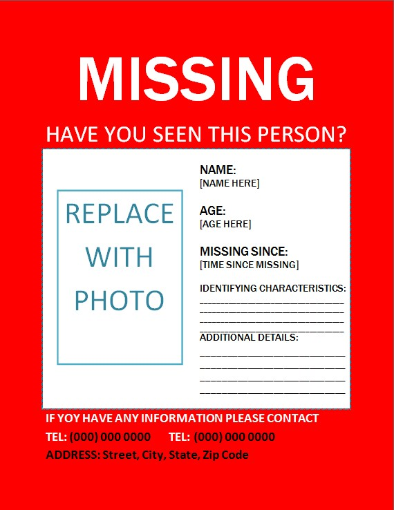 Missing Person Poster 3