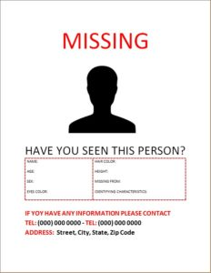 Missing Person Poster 4