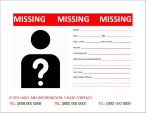 Missing Person Poster 5