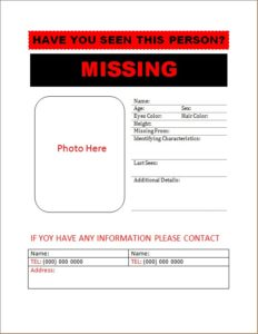Missing Person Poster 6