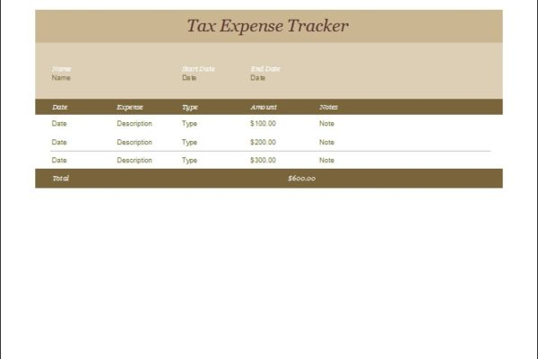 Tax Expense Tracker